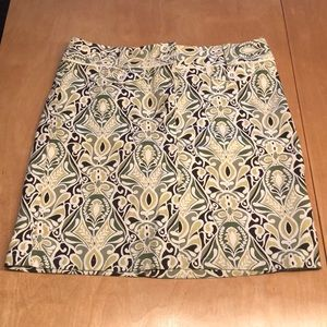 Ann Taylor Short Skirt w/ Fabric Covered Buttons